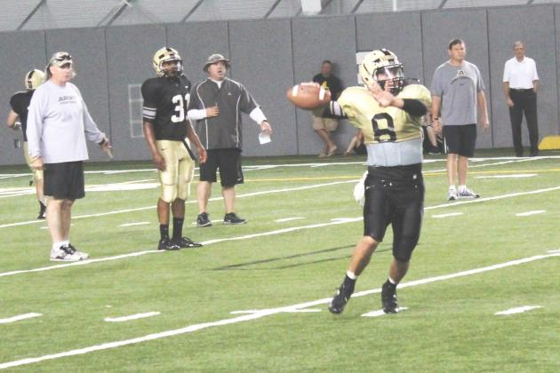 Army Football: Coach Ellerson Exhorts Offense,