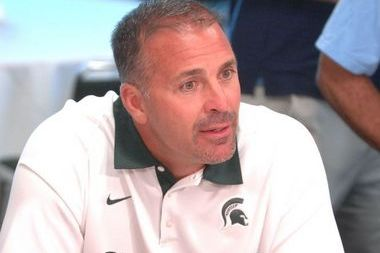 Michigan State's Pat Narduzzi Doesn't Like Yellow Jerseys at Practice