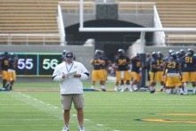 Bears Return Home, Practice in Memorial