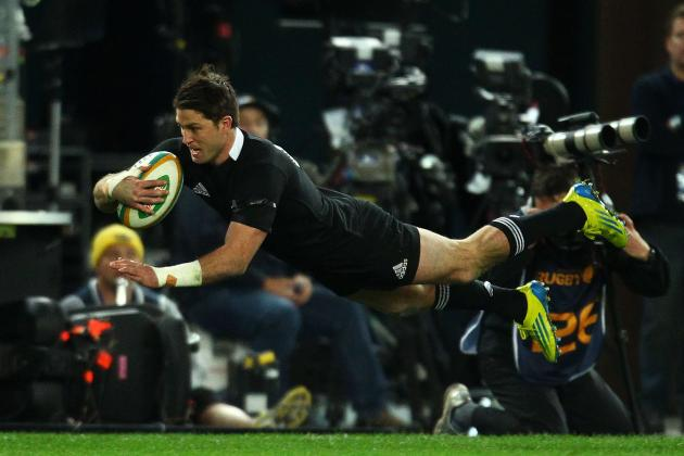 Rugby: All Blacks Beat Wallabies in Error-Ridden Game