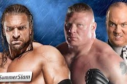 Triple H vs Brock Lesnar [Photo courtesy of WWE.com]