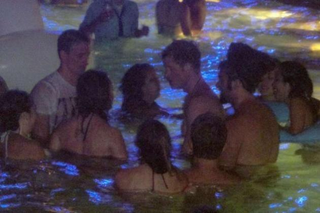 Ryan Lochte and Prince Harry Compete in Late-Night Las Vegas Pool Party