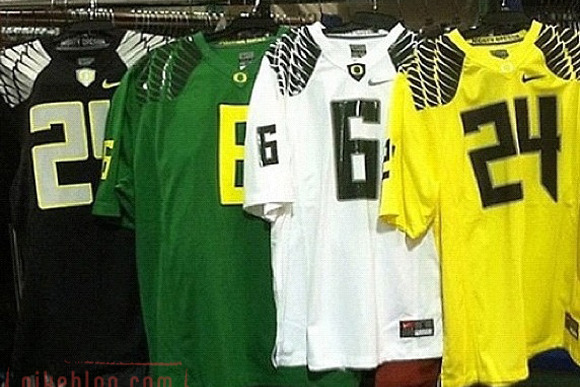 Full Look at Oregon Football's New 2012 Jerseys