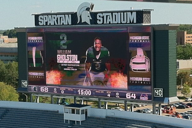 Michigan State Football: Spartan Stadium's Ridiculous New Scoreboard Is Working