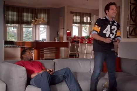 Ray Lewis, Paul Rudd Team Up for Madden Commercial