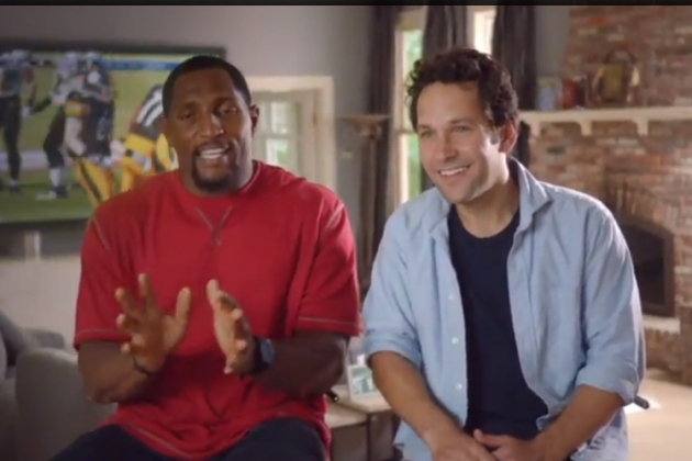 Ray Lewis and Paul Rudd Feature in Hilarious 'Madden 13' Rivalry Commercials
