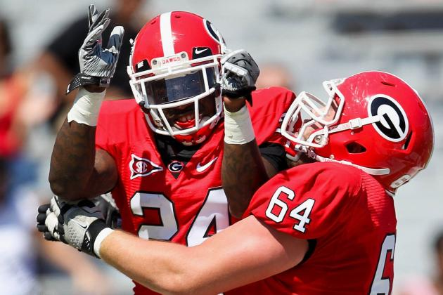 Georgia Football 2012: Ken Malcome Likely to Start as Young RBs Learn to Play