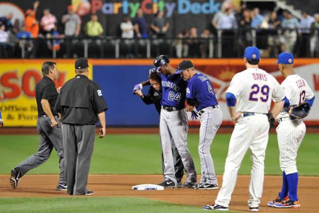 Fowler Exits Game with Sprained Right Ankle