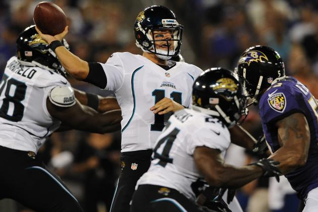 Jacksonville Jaguars Starters Backtrack Against Balitmore Ravens