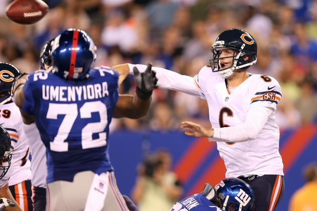 Chicago Bears' Offensive Line Still a Work in Progress in Game vs. NY Giants