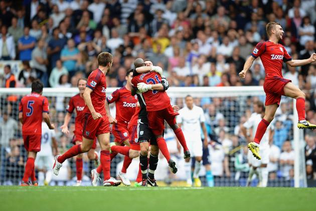 English Premier League: West Brom Equalize Late Against Tottenham