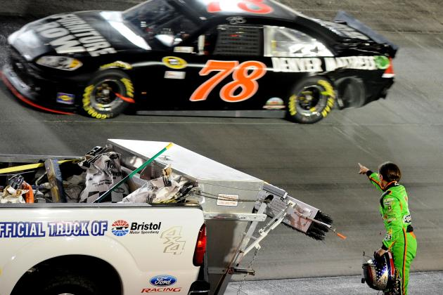 Danica Patrick Points Finger at Regan Smith After Irwin Tools Night Race Crash
