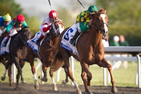 Dullahan Runs Down Game on Dude to Take the Pacific Classic