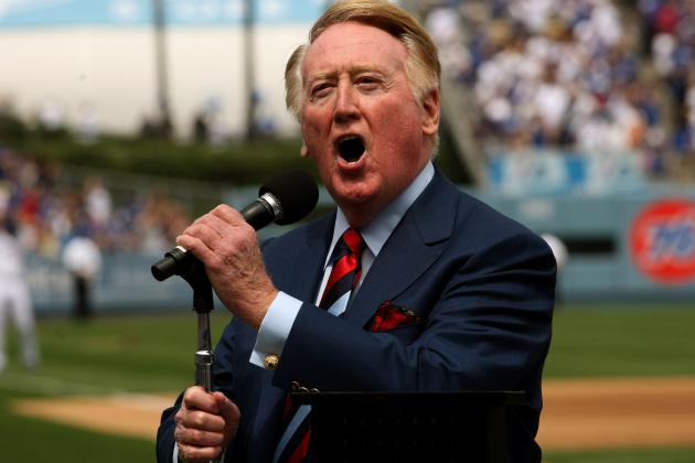 KTLA Sports Anchor Rebecca Hall Asks Vin Scully to Get His 'Expletive' Together