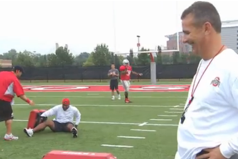 Ohio State Football Video: Carlos Hyde Annihilates RB Coach Stan Drayton