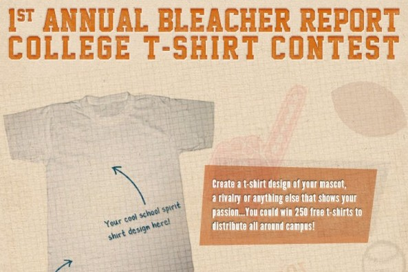 Do You Have the Most School Spirit? B/R's 1st Annual College T-Shirt Contest