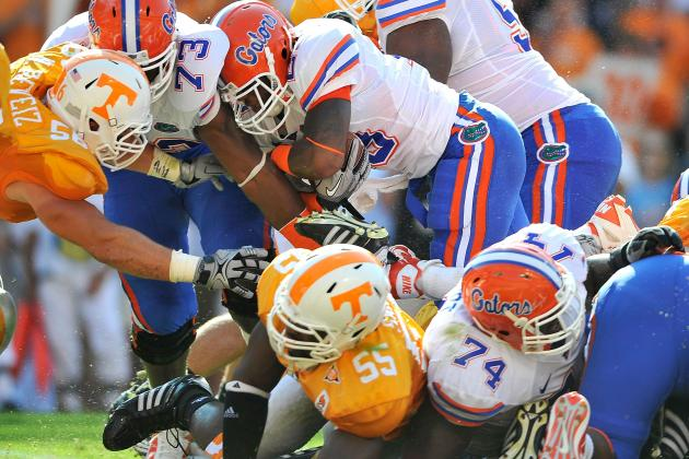 Florida Backfield Is Weighing in Large: Big Backs Part of the Plan Again