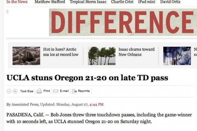 UCLA Football: Falsely Reported Win over Oregon Is a Sign of Times to Come