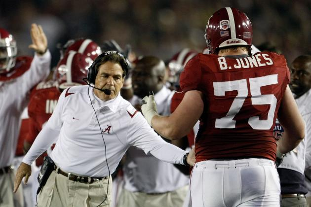 Barrett Jones and 5 Other Impact Starters for Alabama Crimson Tide in Week 1