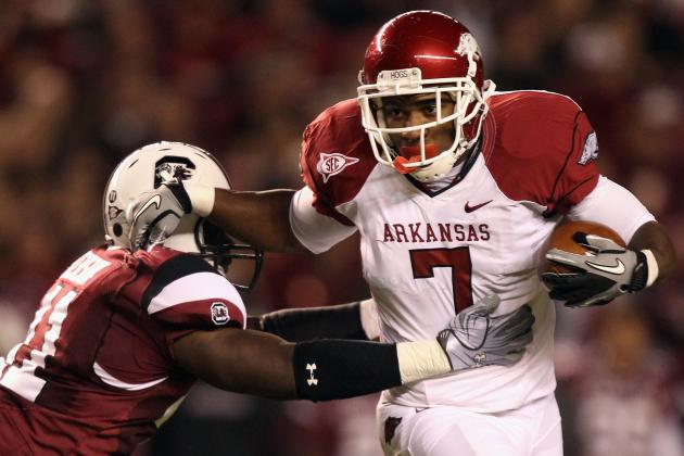 Knile Davis Scouting Report: Breaking Down the Arkansas Running Back
