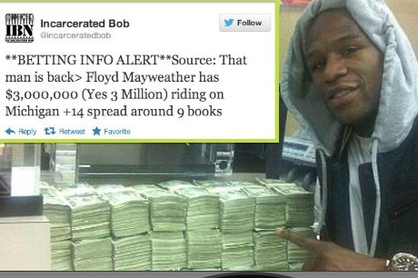 Mayweather Bets $3,000,000 on UM