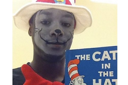 When Harrison Barnes does a book reading for children, he goes all in.