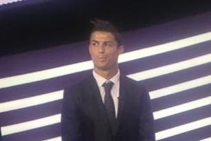 Cristiano Ronaldo gives the McKayla Maroney Face
