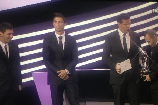 Andres Iniesta Wins UEFA Player of Year, Cristiano Ronaldo Is Not Impressed