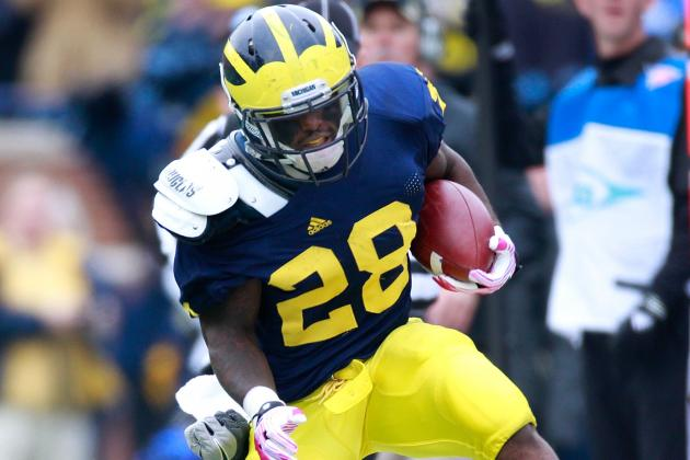 Michigan vs. Alabama: Where Does Denard Robinson Turn Without Fitz Toussaint?