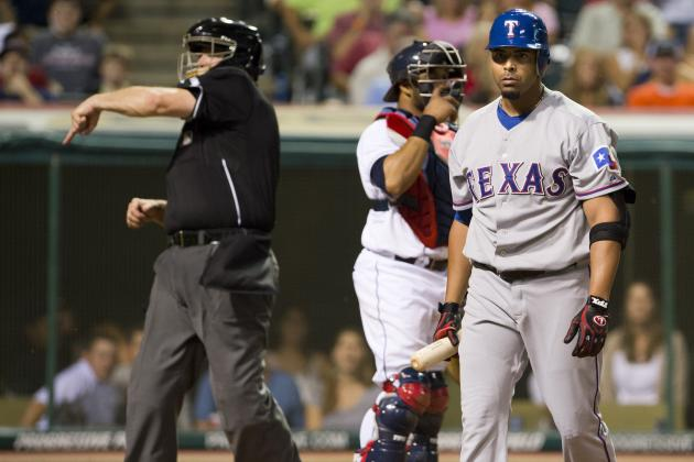 Cruz Shatters Bat, Umps Ejects Him