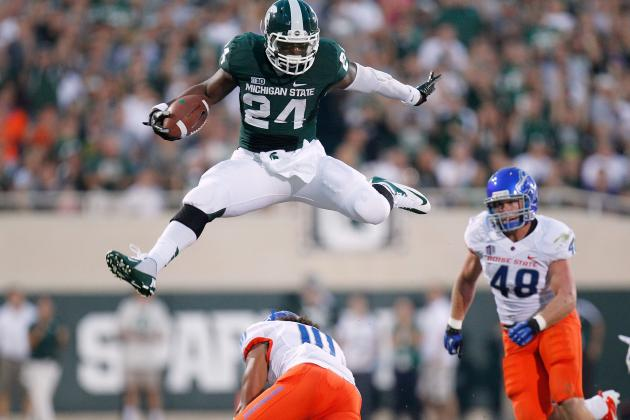 Le'Veon Bell: Michigan St. RB Enters Heisman Race with Monster Game vs. Boise St