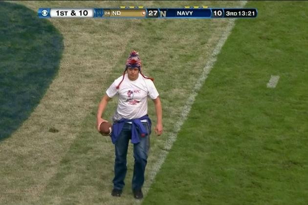 Bird Man from US Open Shows Up at the Notre Dame-Navy Game in Ireland