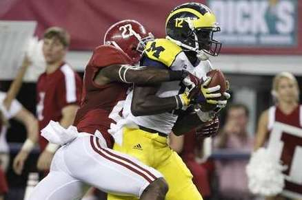 Devin Gardner Flashes Playmaking Ability at Wide Receiver for Michigan in Loss