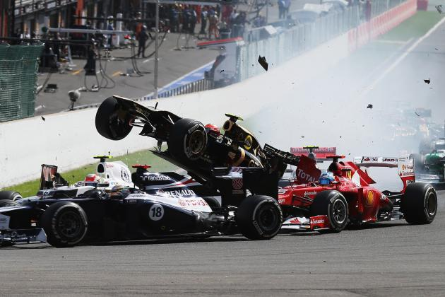 Formula 1: Grosjean Ridiculously Suspended, Maldonado Slapped on the Wrist Again