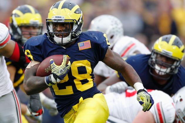 Michigan Wolverines Reinstate RB Fitz Toussaint for Week 2 vs. Air Force