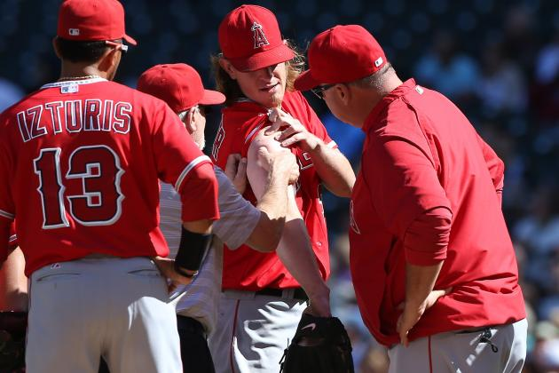 Angels' Jered Weaver Could Miss Friday Start vs. Tigers with Shoulder Injury