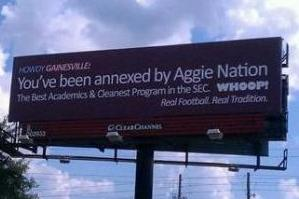 Texas A&M Football: Gainesville Billboard During Florida Week Crosses the Line