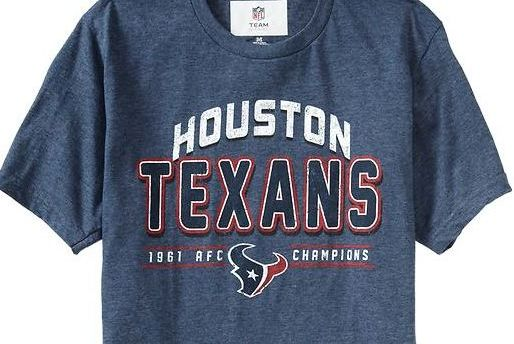 Old Navy Sells Inaccurate Houston Texans 1961 AFC Champion T-Shirts  Bleacher Report ... 0ed180b98