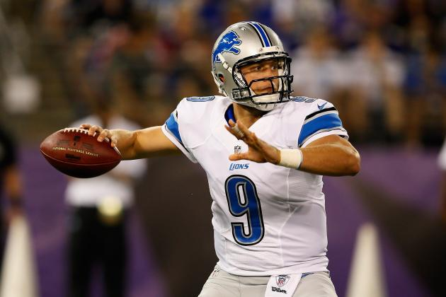 2012 NFL Week 1 Fantasy Projections: Matthew Stafford and Tom Brady Top List