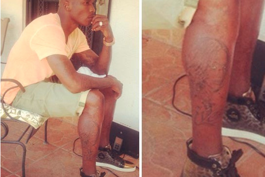 Chad Johnson Gets Ex-Fiance's Face Tatted on His Leg
