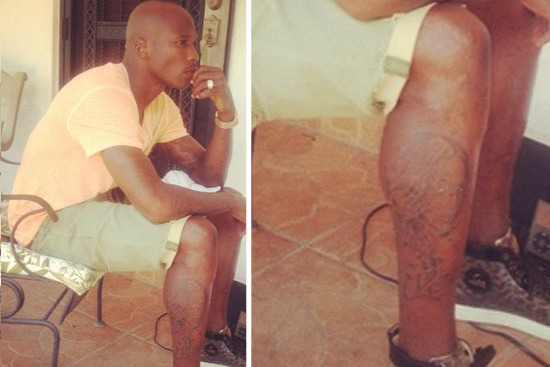 Chad Johnson May Have Tattooed Evelyn Lozada's Face onto His Leg