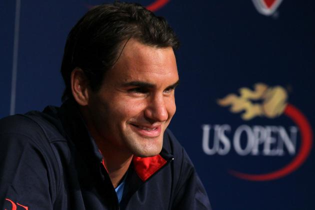 US Open Tennis 2012: Roger Federer Sitting Pretty (Of Course) Despite the Rain