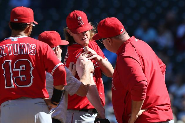 Jered Weaver's Sore Shoulder Examined by Dr. Lewis Yocum