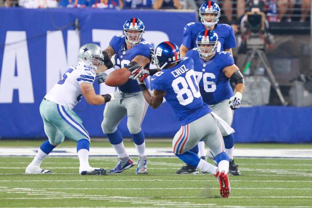 Victor Cruz: Drops vs. Cowboys Prove Giants WR Won't Repeat 2011 Success