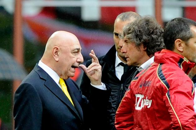 AC Milan in Injury Crisis: Pazzini May Add to List While Galliani Lashes out
