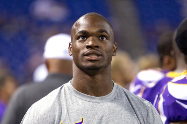 Adrian Peterson Injury: Latest on RB's Week 1 Status, Toby Gerhart's Reps & More