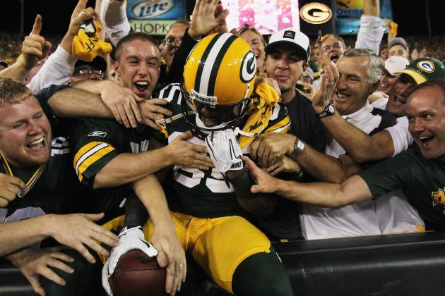 Fans Get 'Grabby' During Lambeau Leap