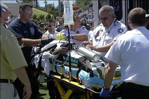 Tulane S Devon Walker Taken Off Field in Ambulance