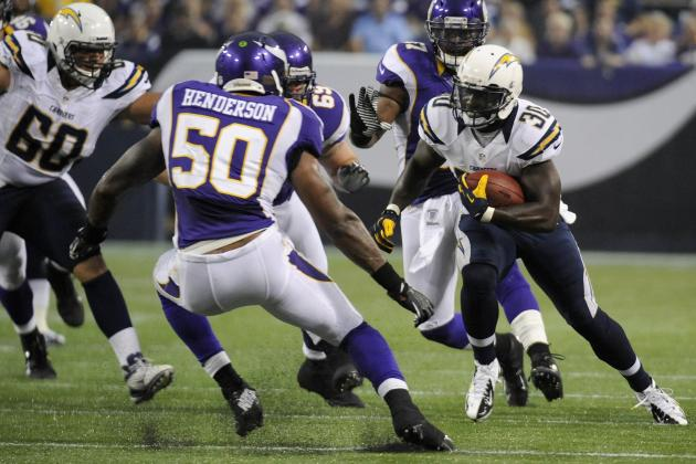 Ryan Mathews: Chargers Players Who Must Step Up in Running Back's Week 1 Absence