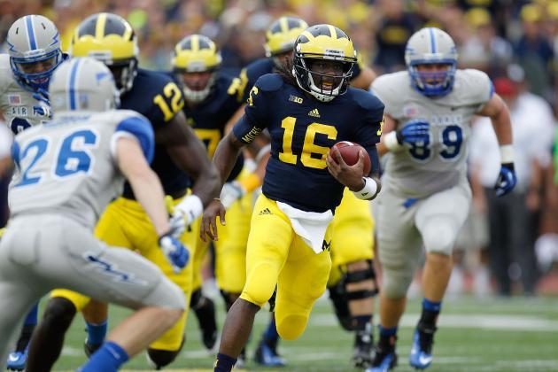 Michigan Football: Better Denard Robinson Gameplan Puts Team Back on Right Track